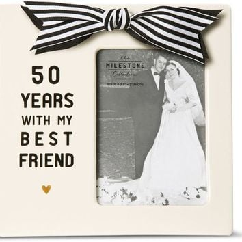 50 Years with my Best Friend Anniversary Picture Photo Frame