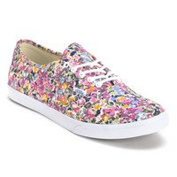 Vans Authentic Lo Pro Violet & White Floral Print Shoes