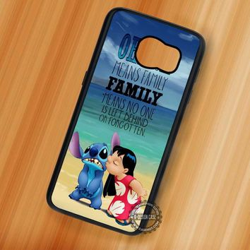 Ohana Lilo and Stitch Quote Disney - Samsung Galaxy S7 S6 S5 Note 7 Cases & Covers