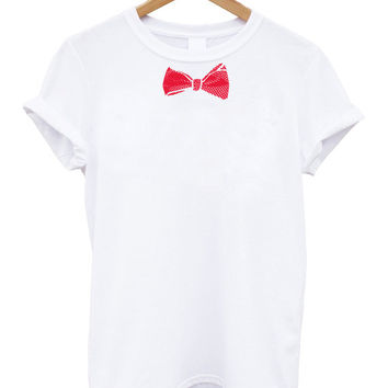 Unisex tshirt / Bow tie / One direction Harry styles inspired bow tie graphic Funny tshirt