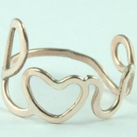 Lovely Love Ring Bronze Friendship Ring Bridesmaids by ExCognito