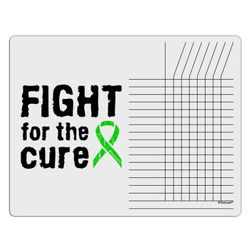 Fight for the Cure - Lime Green Ribbon Lyme Disease Chore List Grid Dry Erase Board
