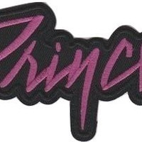 Prince Iron-On Patch Purple Letters Logo