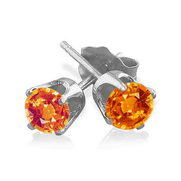 0.50 Ct. Padparadscha Sapphire Earrings in 14k  White or Yellow Gold