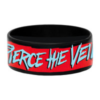 Pierce The Veil Men's Heads Rubber Bracelet Black