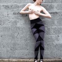 SALE armor leggings black and grey MEDIUM