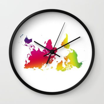 point of view - rainbow 2 Wall Clock by Steffi Louis