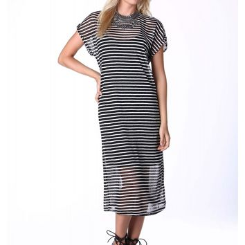 Counting Stripes Midi Dress