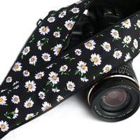 Daisies Camera Strap. Flowers Camera Strap. Canon Nikon Camera Strap. Photo Camera Accessories