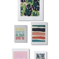 DENY Designs 'Patio Party' Wall Art Gallery (Set of 5) | Nordstrom