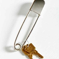 Urban Renewal Vintage Epic Safety Pin Keychain- Silver One