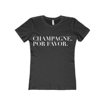 Champagne Por Favor Women's Fitted Tee