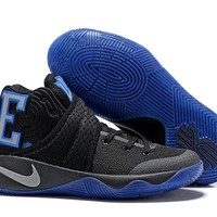 HCXX Men's Nike Zoom Kyrie 2 MD Basketball Shoes Black Blue 40-46