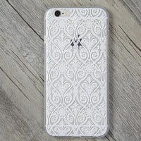 Lace Court Flower Cover Case for iPhone 5s 5se 6 6s Plus Gift + Gift Box