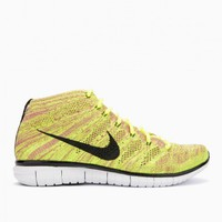 Nike Free Flyknit Chukka from the S/S 2015 in volt and black.