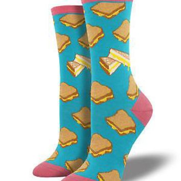 Socksmith Grilled Cheese Women's Socks - Turquoise