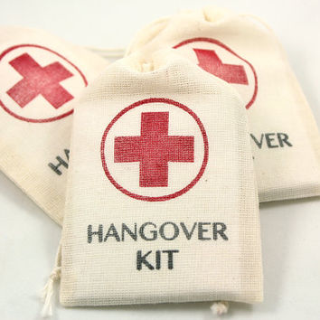 DIY Hangover Kit - Set of 10 - Funny Wedding Favors. Gag Gifts for guests