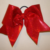 Sparkly Red Cheer Bow
