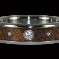 Triple Diamond Titanium Rings – Hawaii Titanium Rings