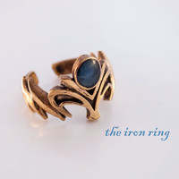 Bronze Princess Zelda Inspired Ring, wedding, engagement, gift, adjustable