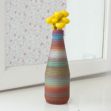 Decorative Vases, Polymer Clay Vase, Handmade vase