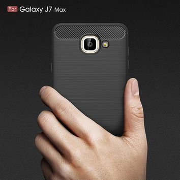 Effelon Case For Samsung J7 Max Brushed Drawing Silicone Cover Cases For Case Samsung Galaxy J7 Max Mobile Phone Shell Coque<