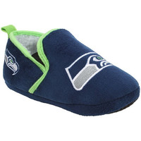 Seattle Seahawks Official NFL 8-16 Youth Sherpa Slippers