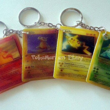 Single Retro Customizable Pokemon Card Keychain