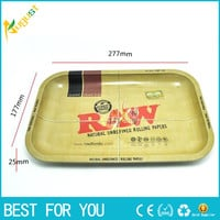 1pc RAW iron plate storage tray Cigarette essential accessories RAW rolling trays 27.7*17.7cm useful tool