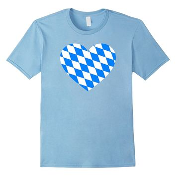 Love Germany State Bavaria Flag Colors Blue Diamonds T-shirt