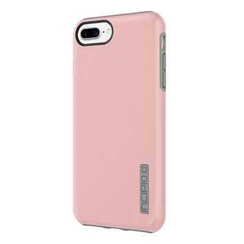 iPhone 8 Case, iPhone 7 Case, Incipio Premium DualPro Shockproof Hard Shell Hybrid Rugged Dual Layer Protective Outer Shell Shock and Impact Absorption Cover - Iridescent Rose Gold/Gray