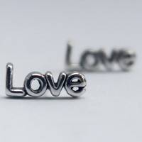 Sterling silver Mix n' Match Stud Earrings,words and symbol Statement Love, Joy, Peace, Hope, Lotus, Heart, Diamond, Infinity, Smiley