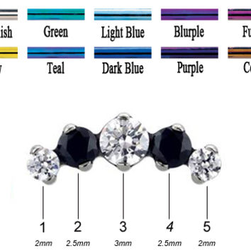 IS Titanium Odyssey Prium Prong set Faceted Gem Threaded End 18g 16g 14g 12g [TPRPFGE 18g16g14g12g] - $87.99 : Diablo Body Jewelry, The Art of High Quality