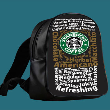 starbuck coffee quote for Backpack / Custom Bag / School Bag / Children Bag / Custom School Bag *