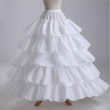 4 Hoops Ball Gown Petticoats Cheap Black Petticoat Crinoline Underskirt Big Ruffle Wedding Accessories Womans Tulle Underskirts