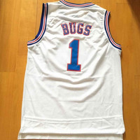 BUGS BUNNY 1 jersey Space Jam White Tune Squad Basketball BUGS 1 jersey