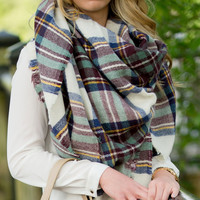 Monogram Blanket Scarf Available In Six Colors