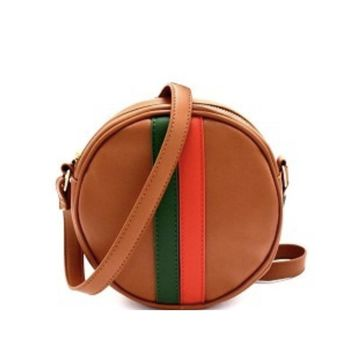 Stripe Circle Crossbody