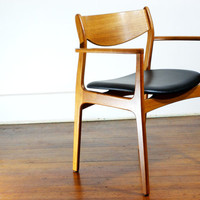 Mid Century Modern Danish Teak Armchair by P.E. Jørgensen for Farso Stolefabrik. Vintage 60s MCM Scandinavian Mad Men Furniture.