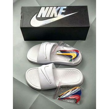 Nike Benassi Summer New Popular Women Men Velcro Replaceable 7 C d98aaa377