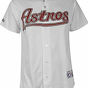 Houston Astros MLB Mens Majestic White Jersey Big & Tall Sizes