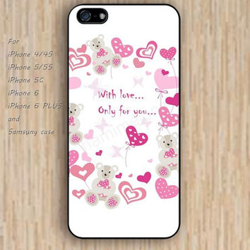 iPhone 5s 6 case colorful heart case pink cartoon phone case iphone case,ipod case,samsung galaxy case available plastic rubber case waterproof B304
