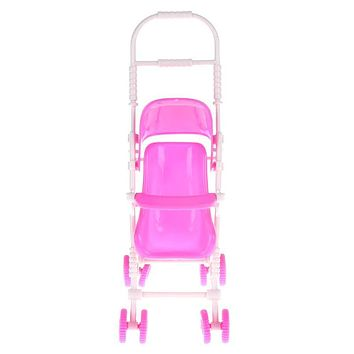 Baby Stroller Infant Carriage Stroller Trolley Nursery Toy Toys Furniture For Barbie Doll Baby Girls