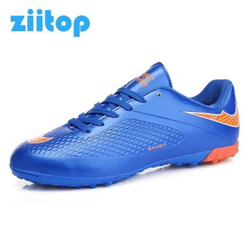 ZIITOP Soccer Shoes Football Shoes Outdoor Athletic Chuteiras Sneakers Training Sport Cleats Male Gym Voetbal Chaussure De Foot