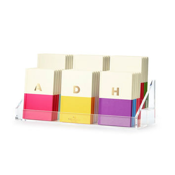 Dipped Initial Notebook {Variety} - Kate Spade