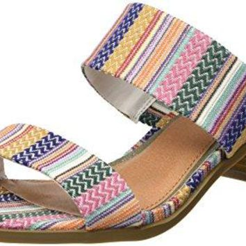 Rampage Womens Hatty Double Strap Block Heled Sandal