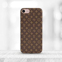 Louis Vuitton Iphone 7 Case Louis Vuitton Case iPhone 6S Case Brown Logo Louis Vuitton iPhone 7 plus Case Louis Vuitton accessories LV gift