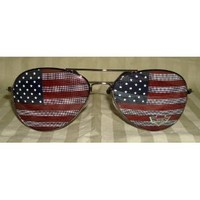 Goson® American Flag Mirror Aviator Sunglasses