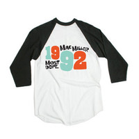 Mac Miller - Most Dope 92 on White 3/4 Sleeve - T-shirts - Official Merch - Powered by MerchDirect