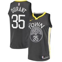 Kevin Durant Golden State Warriors # 35 Nike Black Swingman Statement Edition Jersey - Best Deal Online